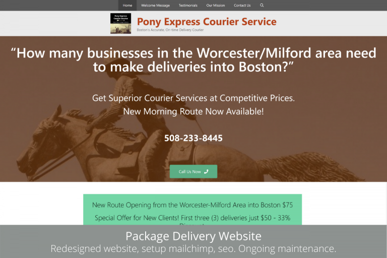 Package Delivery Website